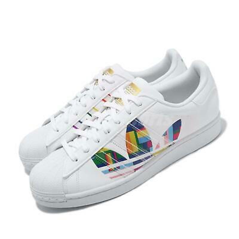 Giày thể thao Adidas Originals Superstar Pride LGBTQ Rainbow White Men Classic Shoes FY9022
