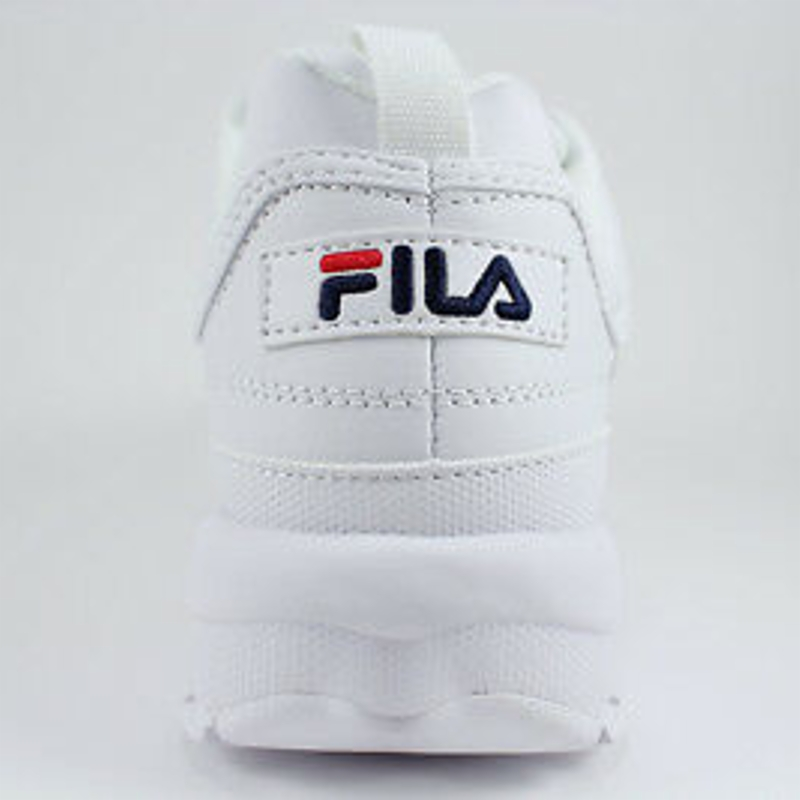 Giày thể thao FILA DISRUPTOR 2 PREMIUM WHITE/NAVY BLUE/RED CROSS-TRAINER 5FM00002-125 WOMEN SZ