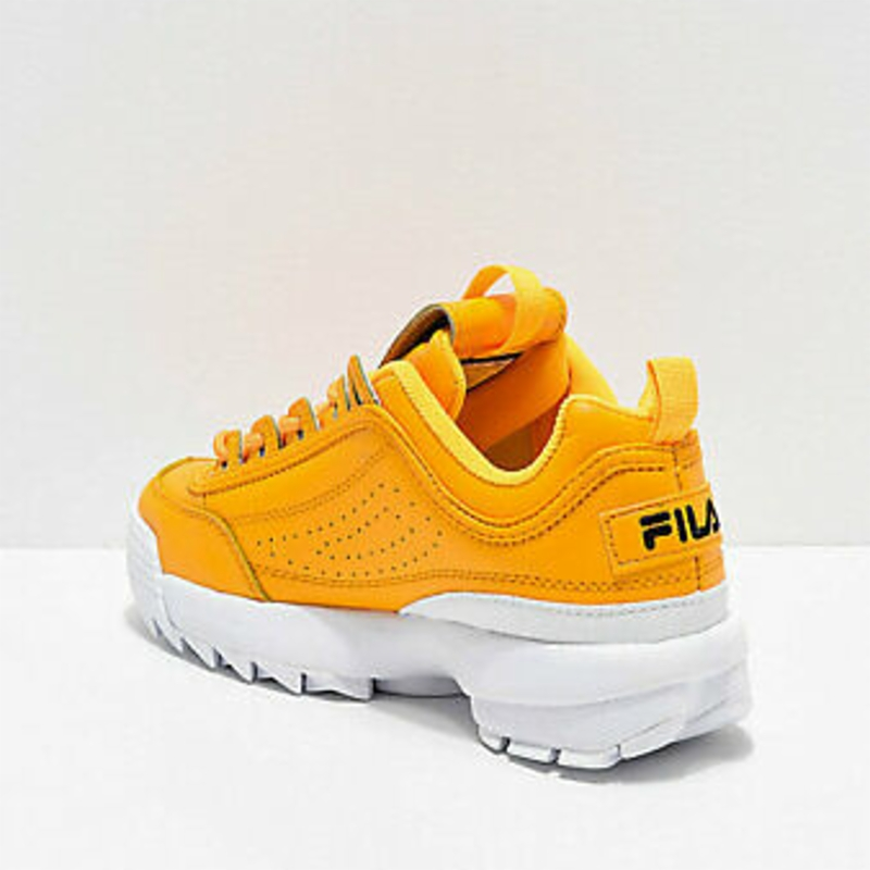 Giày thể thao NEW Womens Fila Disruptor II Premium Yellow White Shoes Two 2