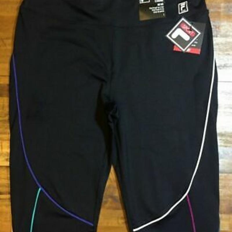 Quần Legging FILA SPORT TRU-DRY - NWT cỡ vừa M (đen / đa) dành cho nữ FILA SPORT TRU-DRY Legging Pants - Women's Medium M (black/multi) NWT