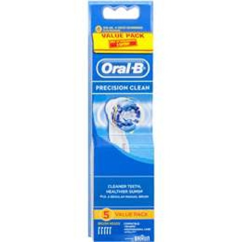 Oral-b Precision Clean Toothbrush Replacement Electric Heads 5 refills