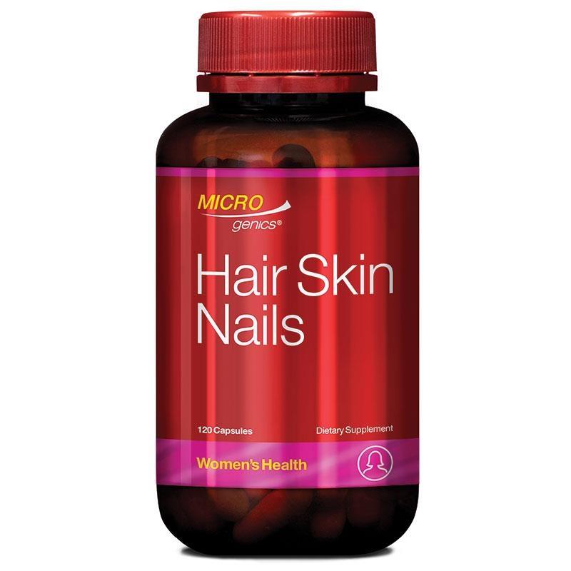 Viên uống hỗ trợ tóc, da, móng Microgenics Hair Skin Nails 120 Capsules