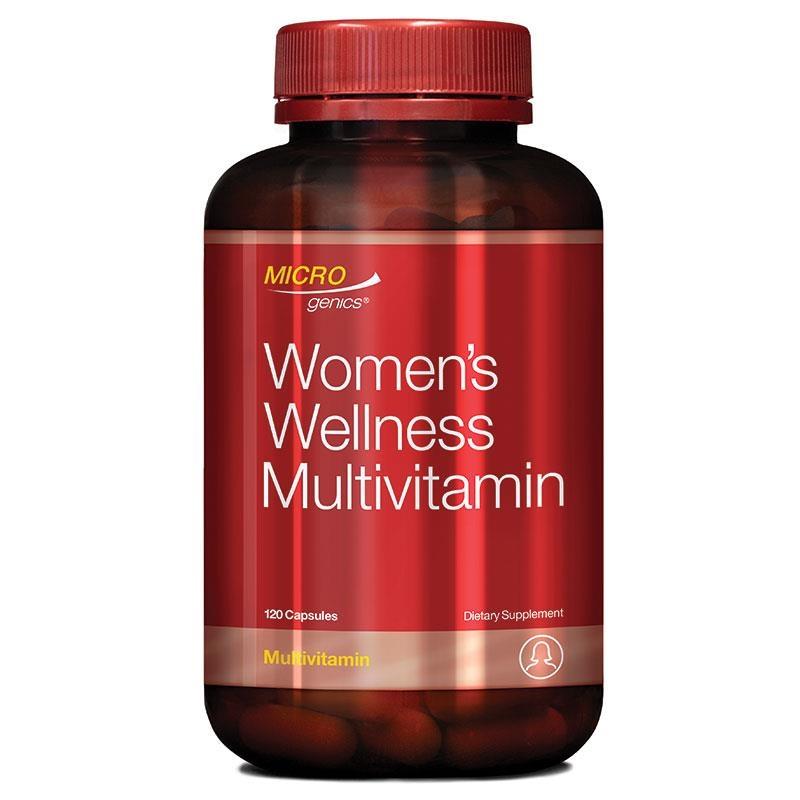 Viên uống hỗ trợ sức khỏe phụ nữ Microgenics Womens Wellness Multivitamin 120 Capsules