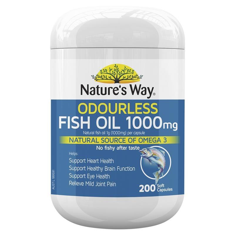 Nature's Way Fish Oil 1000mg 200 Capsules