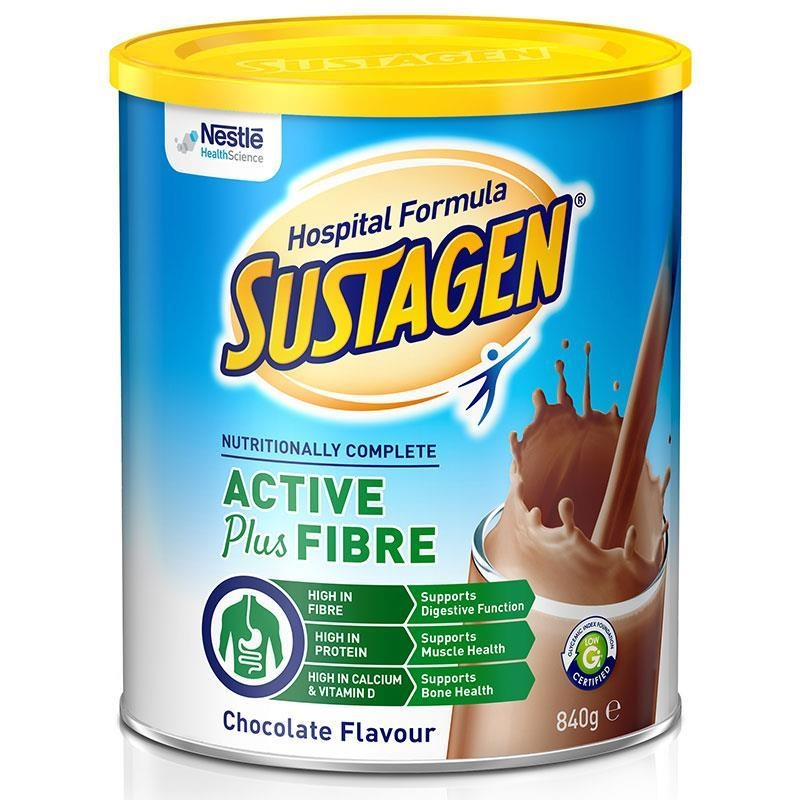 Sustagen Hospital Active + Fibre 840g Chocolate