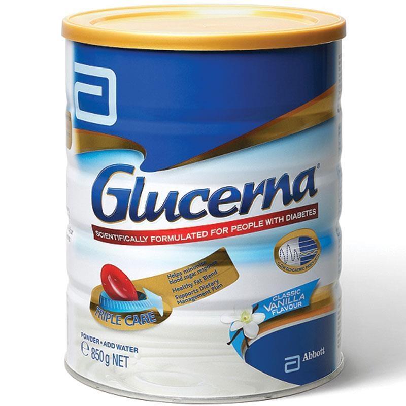 Sữa cho người tiểu đường Glucerna Triple Care Vanilla 850g