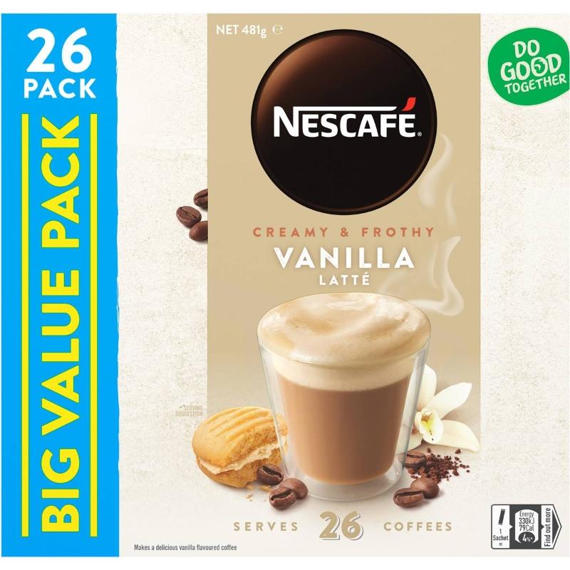 Nescafe Coffee Sachets Vanilla 26 gói