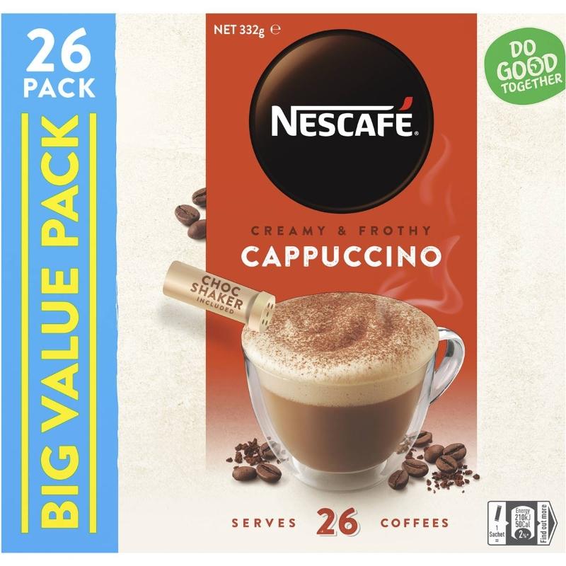 Nescafe Coffee Sachets Cappucino 26 gói