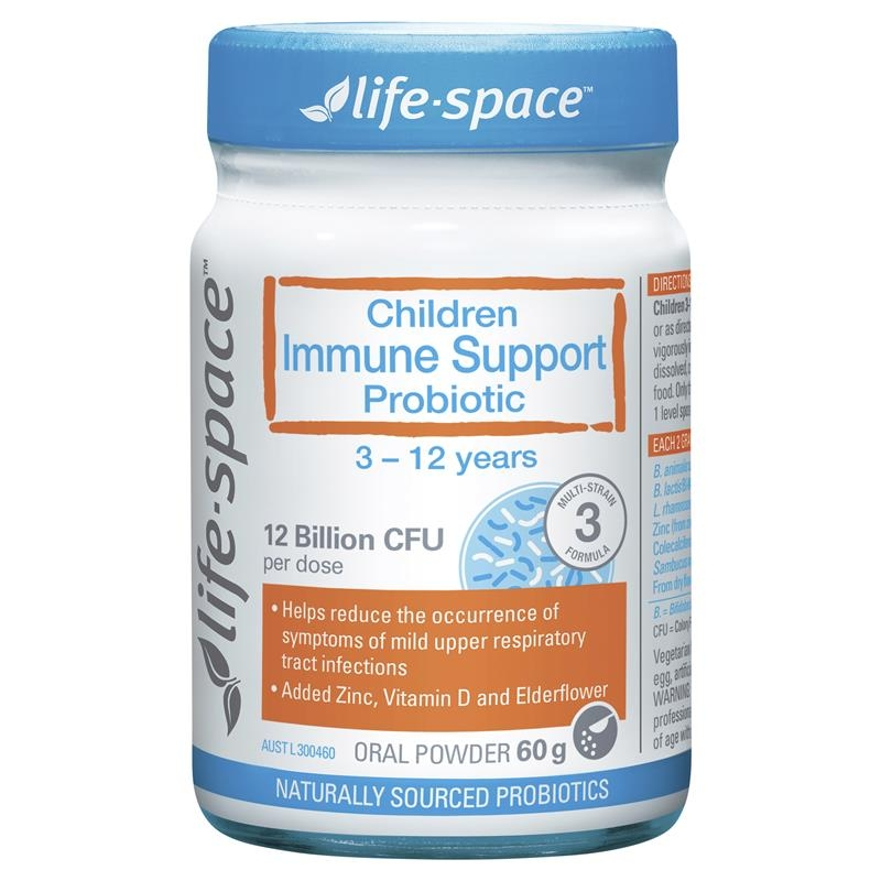 Men vi sinh hỗ trợ hệ miễn dịch cho trẻ Life Space Childrens Immune Support Probiotic 60g