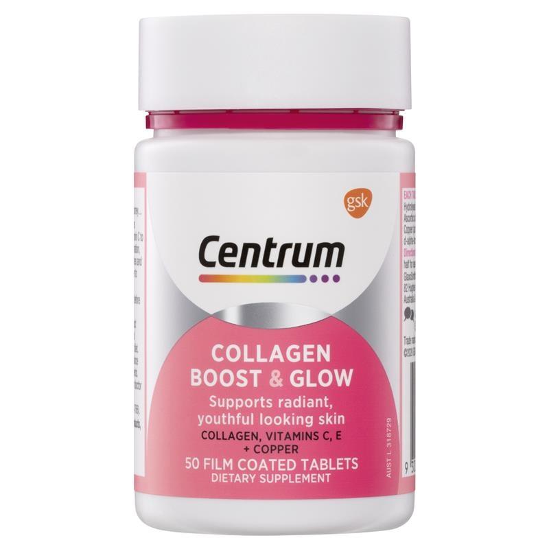 Vitamin tổng hợp Centrum Collagen Boost & Glow 50 Tablets