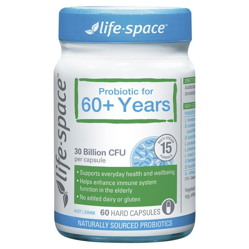 Men vi sinh cho người già Life Space Probiotic For 60+ Years 60 Capsules