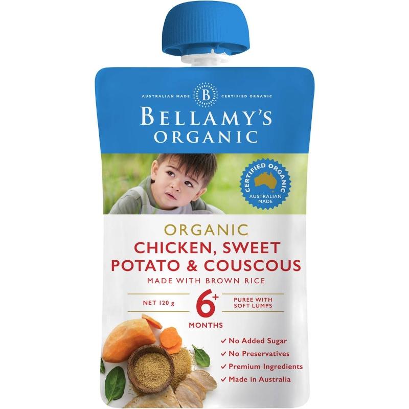 Bellamy's Organic Organic Chicken Sweet Potato & Couscous Pouch 120g