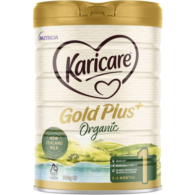 Sữa bột Karicare Gold Plus+ Organic 1 Baby Formula From Birth To 6 Months 900g