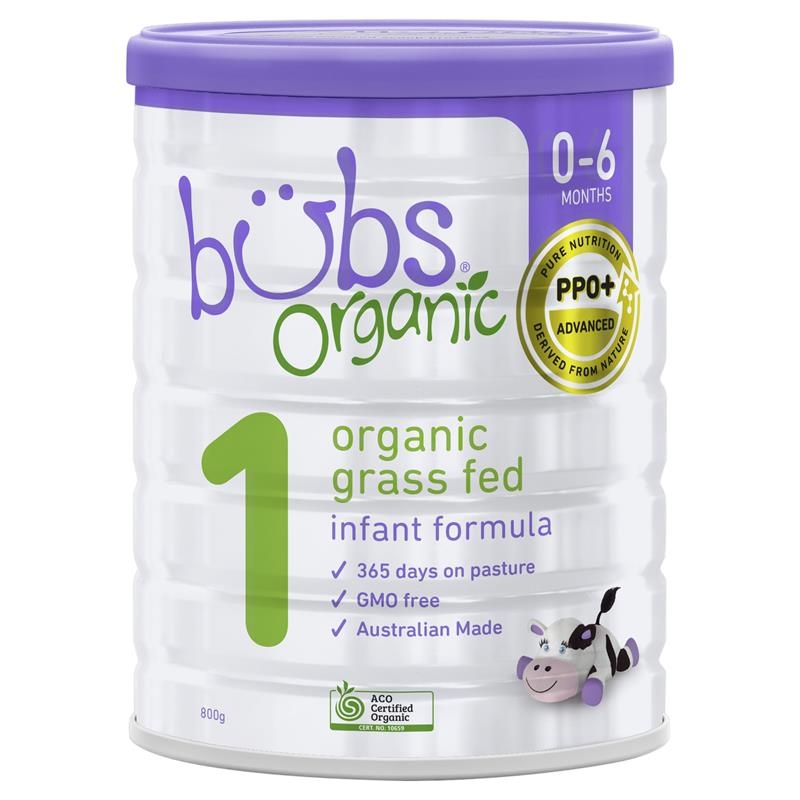Bubs Organic Grass Fed Infant Milk Formula 800g