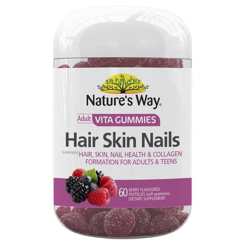 Kẹo dẻo cho tóc, da, móng Nature's Way Vita Gummies Hair Skin Nail 60 Gummies