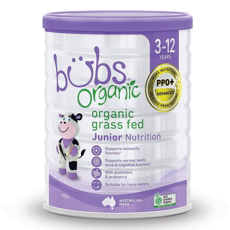 Bubs Organic Grass Fed Junior Nutrition Drink 800g
