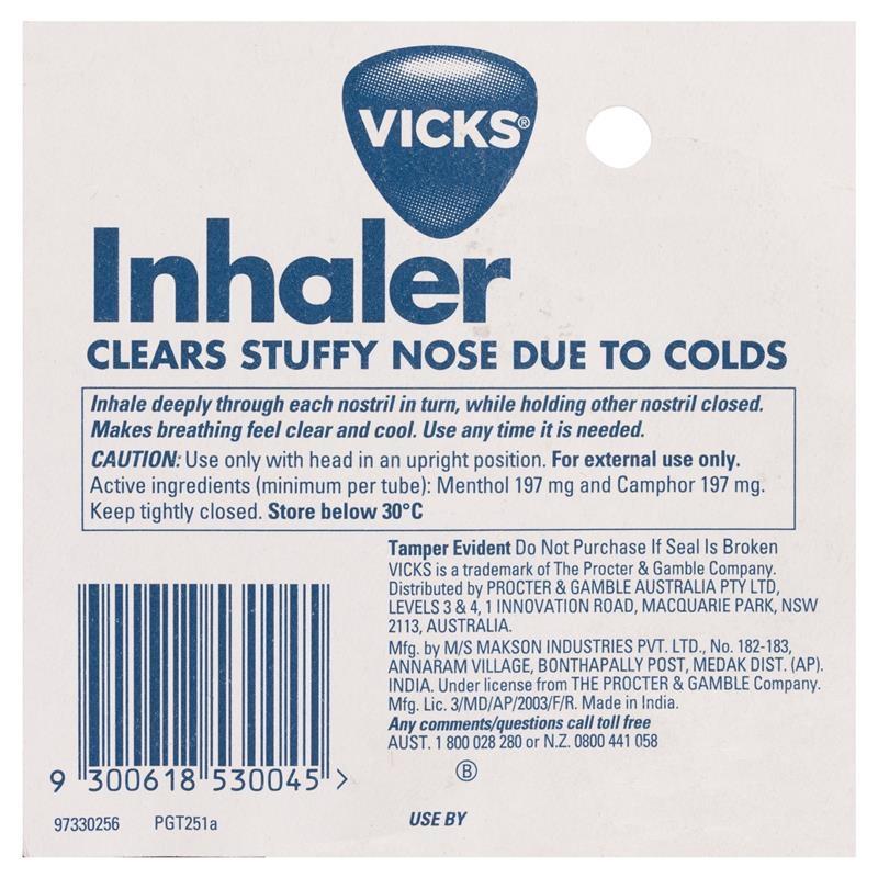 Hít mũi Vicks Nasal Spray Decongestant Inhaler 0.5mL