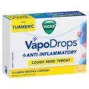 Viên ngậm Vicks VapoDrops + Anti-Inflammatory Lemon Menthol 36 Lozenges