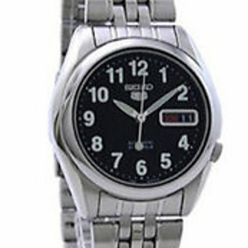 Seiko 5 Automatic SNK381 SNK381K1 Men 21 Jewels Steel Watch Free Ship