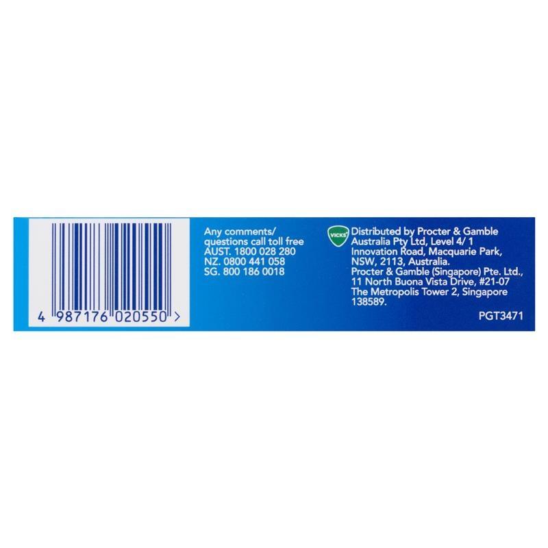 Viên ngậm Vicks VapoDrops + Anti-Inflammatory Lemon Menthol 16 Lozenges