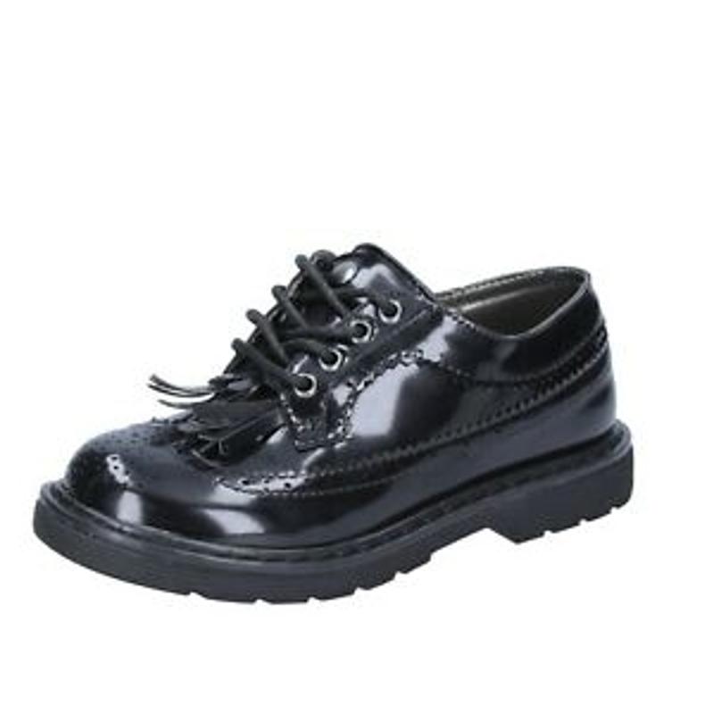 Giày bé gái - Girl's Shoes ENRICO COVERI 36 Eu Classic Black Leather BR252-36