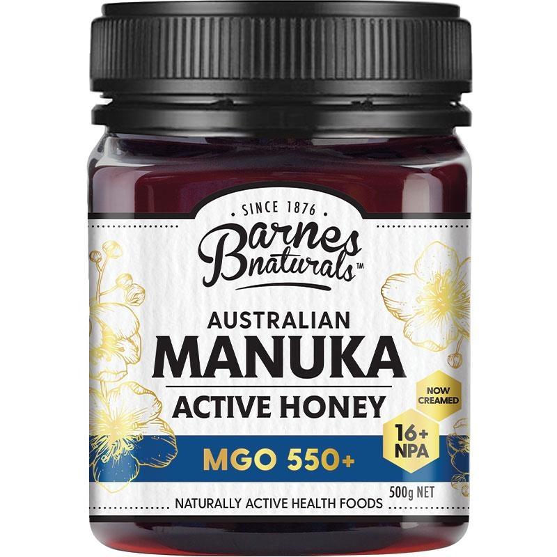 Mật ong - Barnes Naturals Australian Manuka Honey 500g MGO 550+