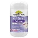 Viên nhai bổ sung canxi Nature's Way Kids Smart Calcium + Vitamin D 50 Chewable Capsules