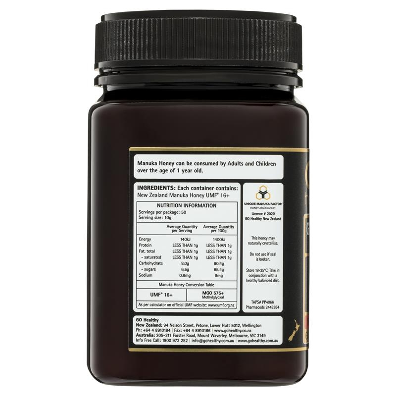 Mật ong GO Healthy Manuka Honey UMF 16+ (MGO 575+) 500gm (Not For Sale In WA)