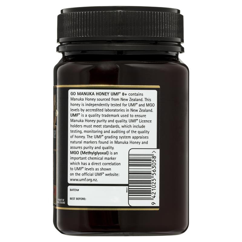 GO Healthy Manuka Honey UMF 8+ (MGO 180+) 500gm (Not For Sale In WA)