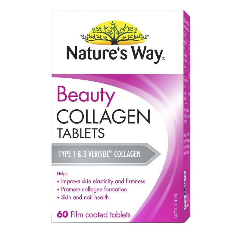 Viên uống collagen Nature's Way Beauty Collagen 60 Tablets