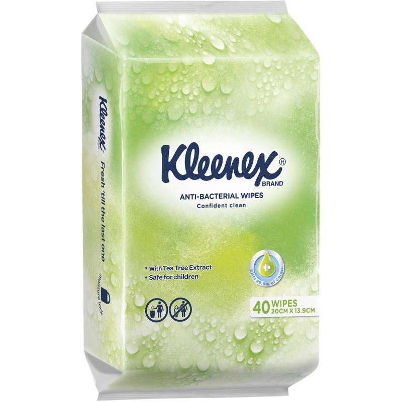 Kleenex Anti-bacterial Wet Wipes 40 pack