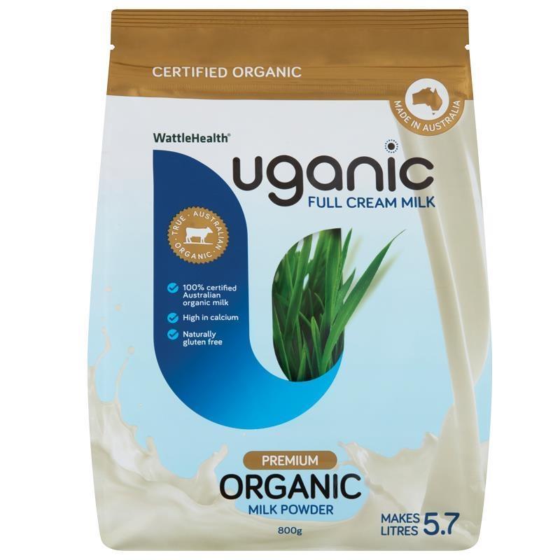 Sữa bột nguyên kem Uganic Milk Powder Full Cream 800g