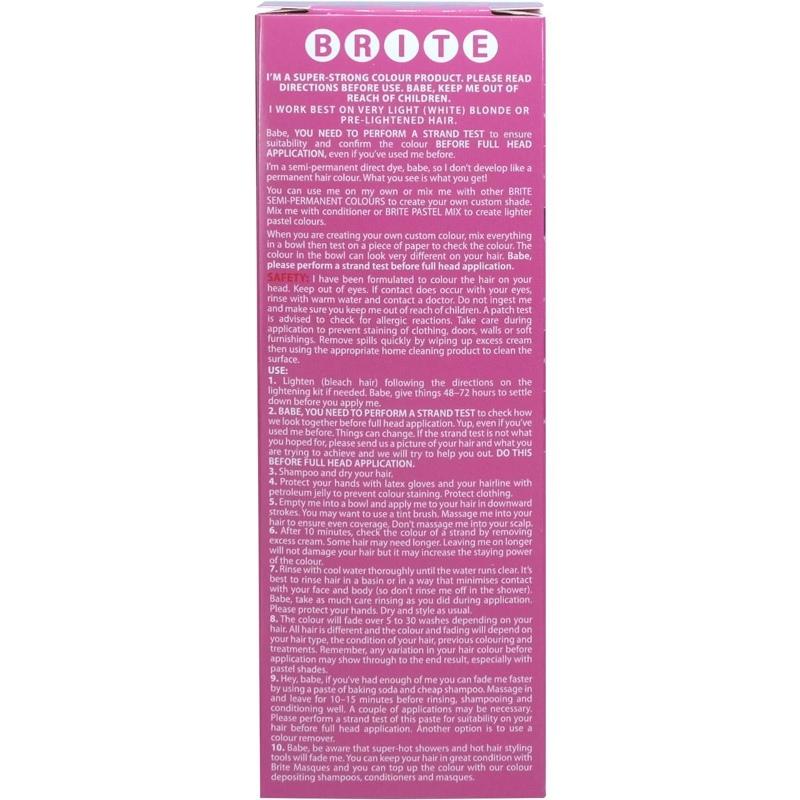 Brite Semi Permanent Hair Colour Colour Pink 75ml