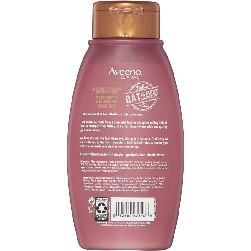 Dầu xả Aveeno Blackberry Quinoa Protein Blend Conditioner 354ml