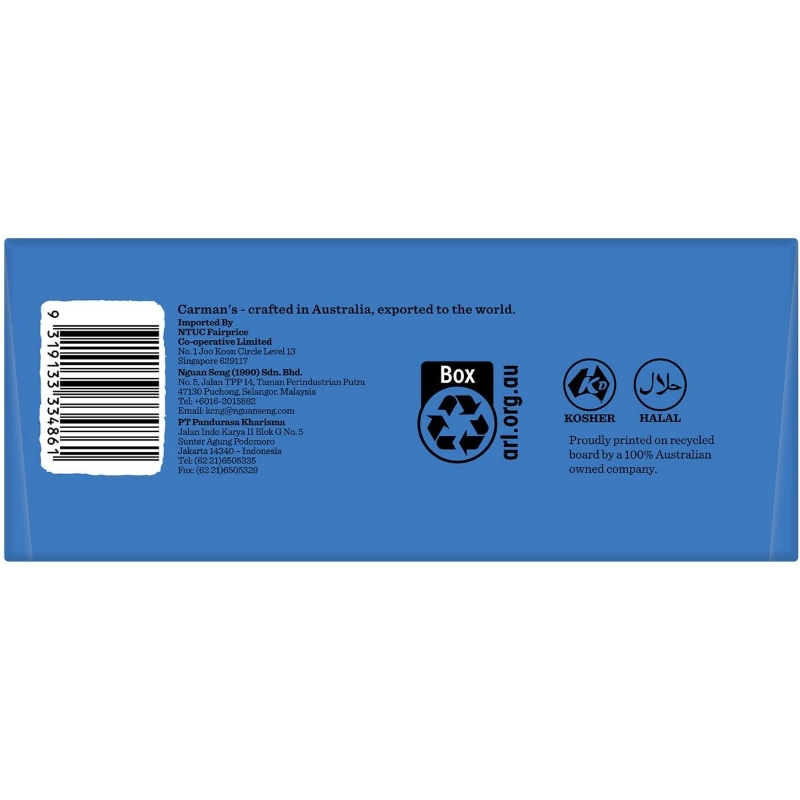 Carman's Dark Choc Blueberry Superfood Bars 35g x12 pack