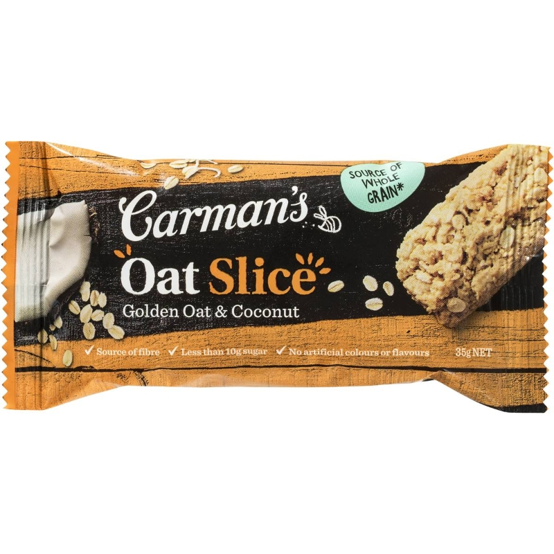 Carman's Coconut & Golden Oat Slice 210g