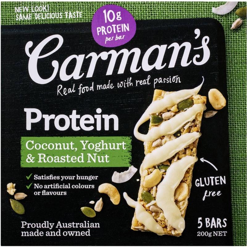 Carman's Protein Muesli Bars Coconut, Yoghurt & Roasted Nut 200g