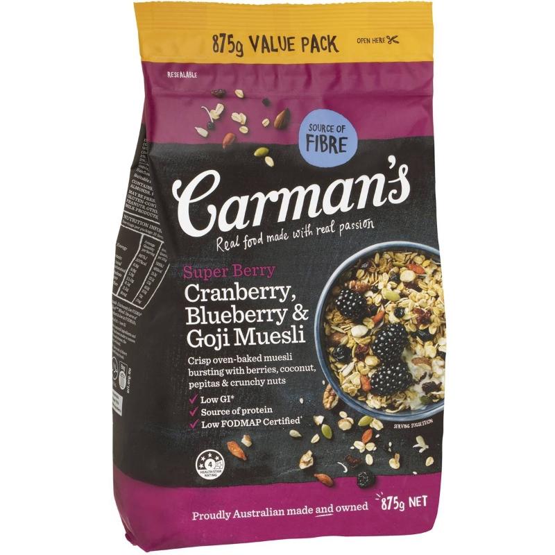 Carman's Super Berry Muesli 875g