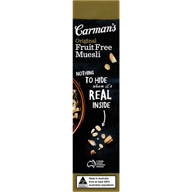 Carman's Original Fruit Free Muesli 500g