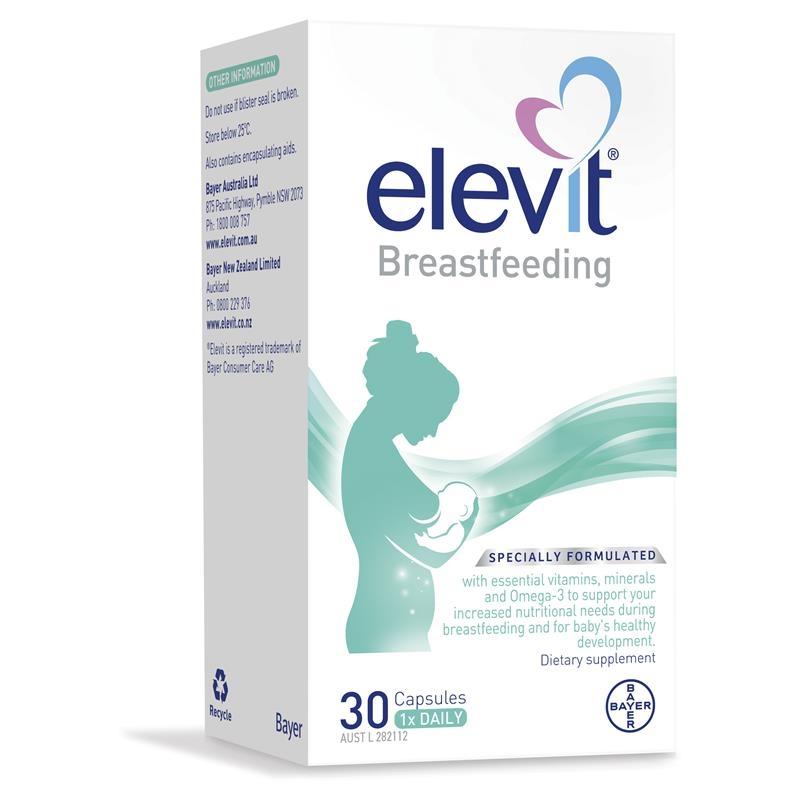 Elevit Breastfeeding Multivitamin Capsules 30 Pack (30 Days)