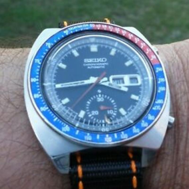 Seiko Vintage Watch, Chronograph, 6139-6002, Pepsi