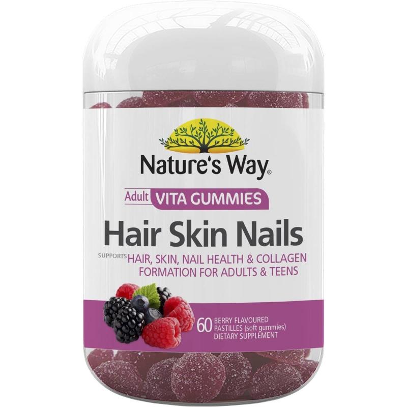 Nature's Way Adult Vita Gummies Hair Skin & Nails 60 pack