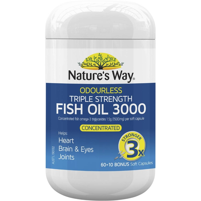 Nature's Way Advanced Omega Triple Strength Fish Oil 60 pack