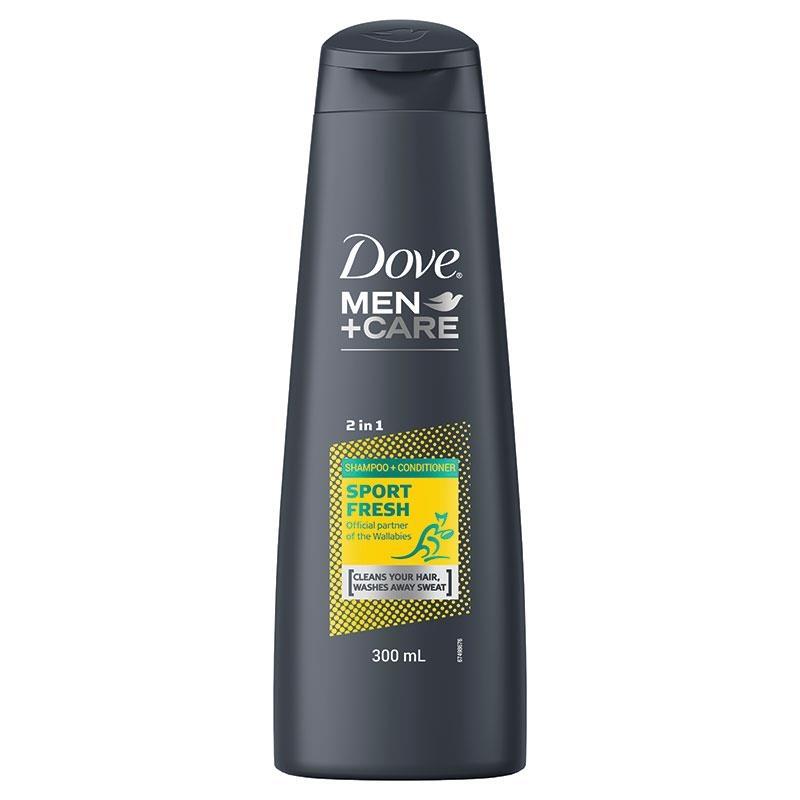 Dove for Men 2 in 1 Shampoo & Conditioner Wallabies Sport Fresh 300ml