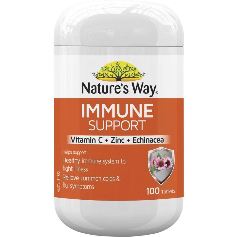 Nature's Way Daily Immunity With Vitamin C & Zinc & Echinacea 100 pack
