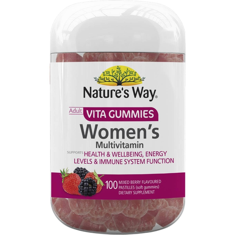 Nature's Way Vitagummies Womens Multivit Orange Lemon Blueberry 100 pack