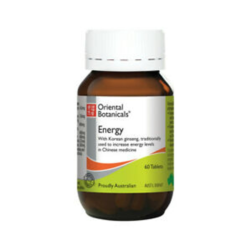 ORIENTAL BOTANICALS Energy 60 tablets ( was Adrenalift )