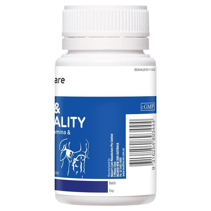 Healthy Care Oyster and Zinc Vitality 60 Capsules