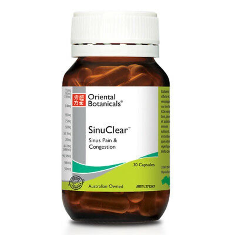 ORIENTAL BOTANICALS SinuClear 30 vege Capsules ( Sinus pain & congestion )