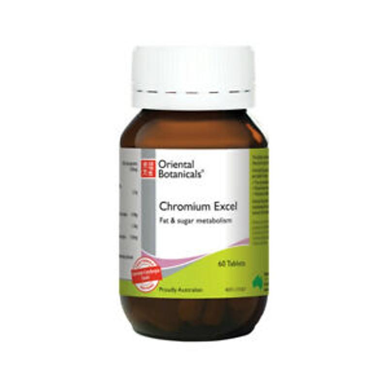 ORIENTAL BOTANICALS Chromium Excel ( Fat & Sugar Metabolism ) 60 tablets